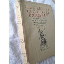 Livre ancien : Les silences du Colonnel Brambel d'André Maurois 1928