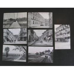 Lot de 7 cartes postales anciennes AGEN - 1900