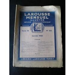 """Revue ancienne """"Larousse mensuel illustré"""" 1934"""