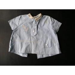 Robe ancienne bébé, bleue, ancre marine, années 50