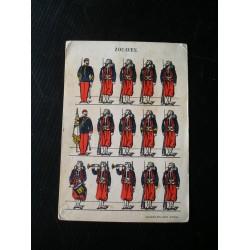 Carte postale ancienne , militaire, zouaves