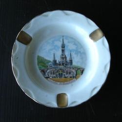 Cendrier en porcelaine de Limoges, basilique de Lourdes