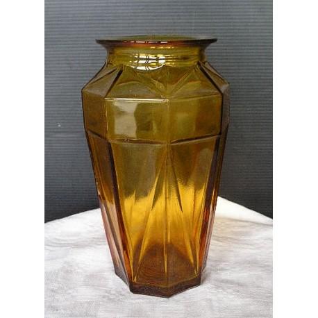 Vase art déco ambre , 19 cm