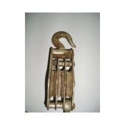 Moufle poulie en métal , 20 cm et largeur 3 x 1 cm