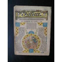 """Revue ancienne """"Fillette"""" 1924"""