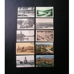 10 cartes postales anciennes Auvergne
