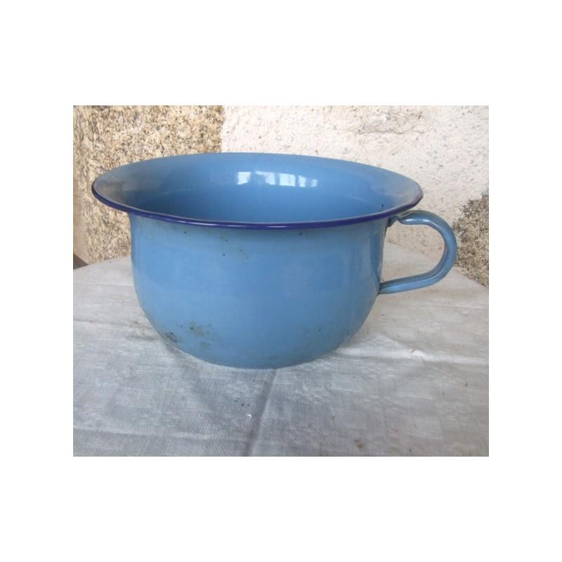 Pot de chambre ancien maill bleu broc23 for Pot de chambre camping
