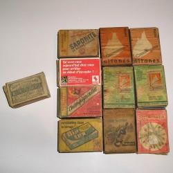 Lot de 11 boites d'allumettes anciennes