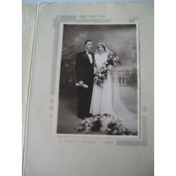 Photo de couple de  mariés années 40