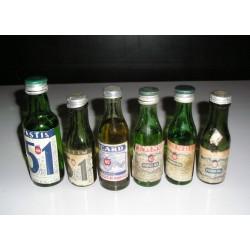 Lot de 6 Mignonettes Pastis,Ricard, Pernod