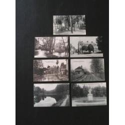 Lot de 7 cartes postales anciennes du Centre
