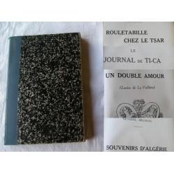 Livre ancien de 1912, 4 histoires : Rouletabille, Louise de la Vallière