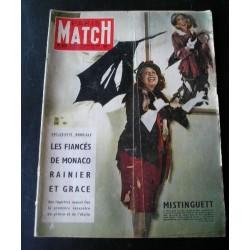 Paris-Match Mistinguett, fiancés de Monaco 1956