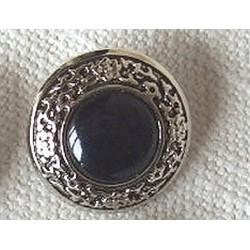 Bouton ancien métal et noir