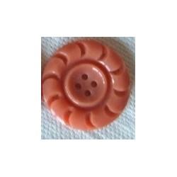 Bouton rose en plastique, vintage