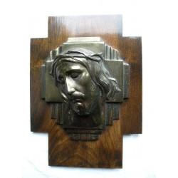 Christ bois et laiton