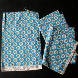 Tissus anciens vintage bleu