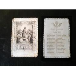 Canivet daté communion  1896-image religieuse-pieuse XIXè