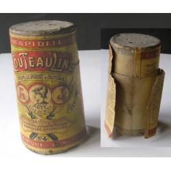 Boite de poudre à couteaux, ancienne, marque Couteauline N°4